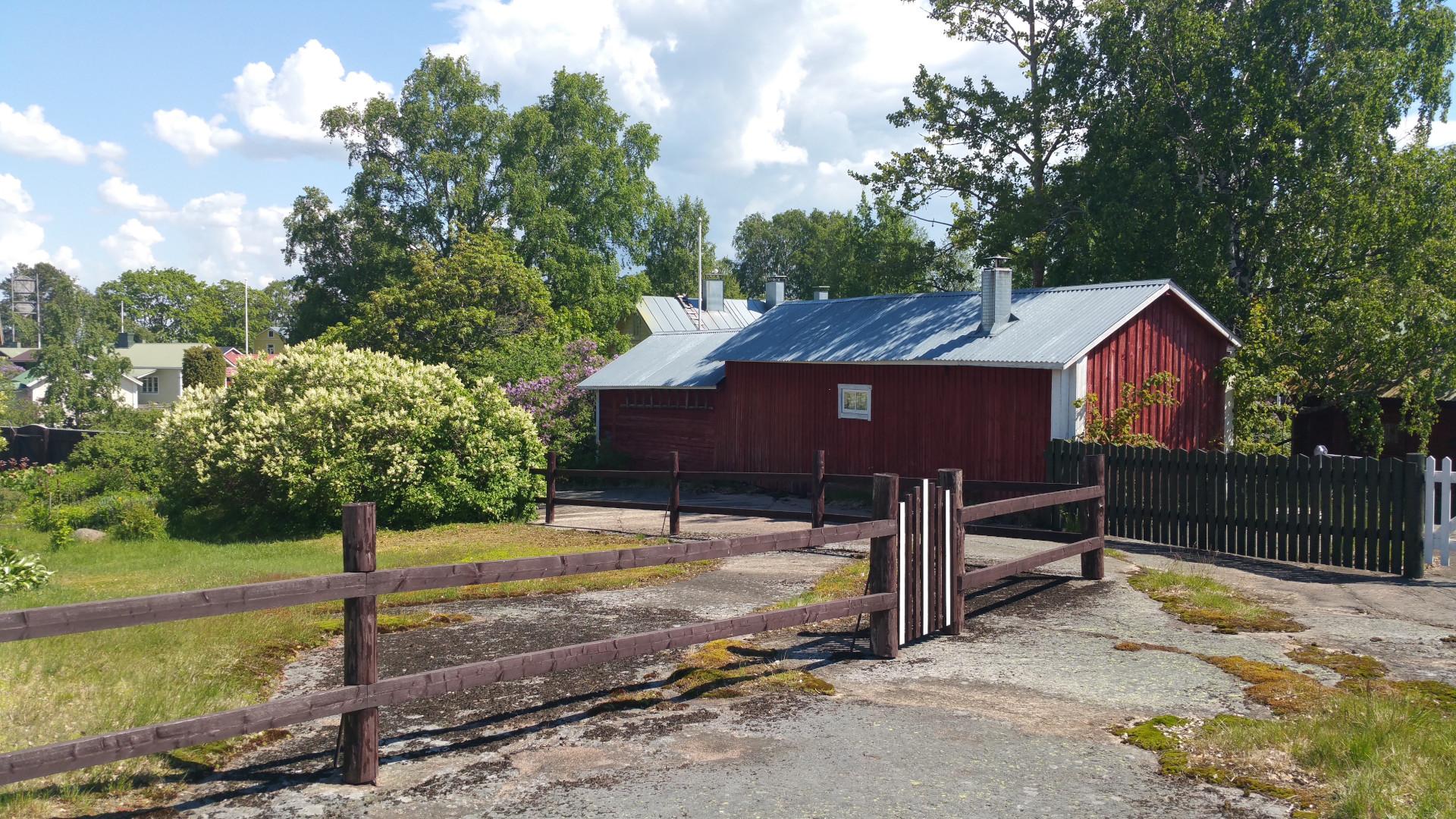 Tammion kuja näkymä Tammion kalastajakylässä